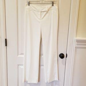WHBM Legacy White Lined Dress Pants